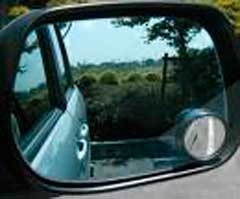 サイドミラーの凸面鏡