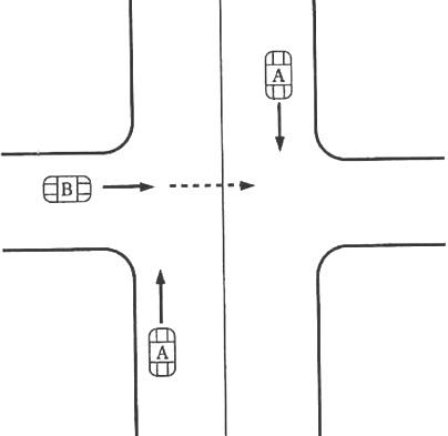 d.一方が優先道路である交差点